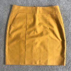 Ann Taylor Mustard Skirt